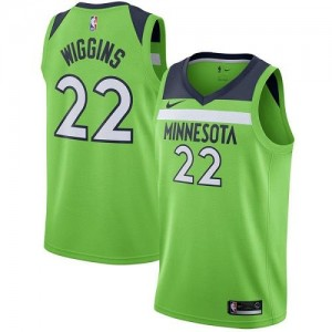 Nike Maillot De Basket Andrew Wiggins Minnesota Timberwolves #22 Homme vert Statement Edition
