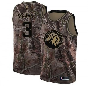 Nike NBA Maillots Basket Brown Minnesota Timberwolves Realtree Collection Homme Camouflage #3