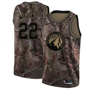 Nike NBA Maillot Andrew Wiggins Minnesota Timberwolves Camouflage Realtree Collection Homme #22
