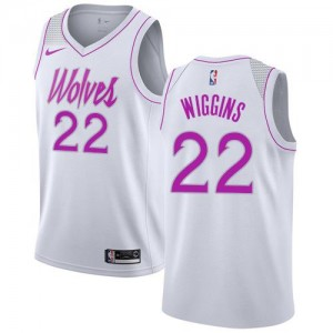 Nike Maillots De Wiggins Minnesota Timberwolves Enfant Earned Edition No.22 Blanc