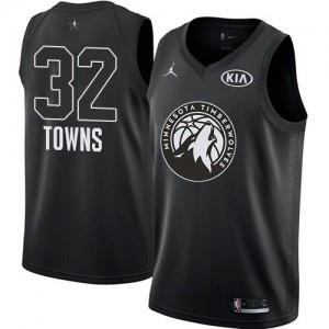 Maillot De Karl-Anthony Towns Minnesota Timberwolves No.32 Enfant Noir 2018 All-Star Game Jordan Brand
