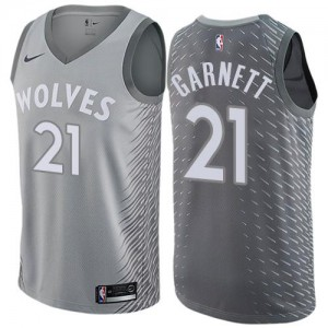 Nike NBA Maillot De Basket Garnett Timberwolves No.21 Gris Enfant City Edition