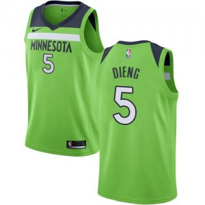 Nike Maillots De Basket Gorgui Dieng Minnesota Timberwolves Enfant vert Statement Edition #5