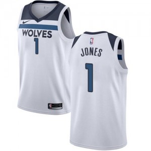 Maillots De Tyus Jones Minnesota Timberwolves Enfant Blanc #1 Association Edition Nike