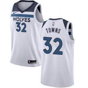 Maillot De Karl-Anthony Towns Minnesota Timberwolves Association Edition Blanc No.32 Enfant Nike