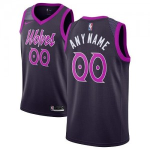 Nike NBA Maillot Personnalisable De Basket Timberwolves City Edition Violet Homme