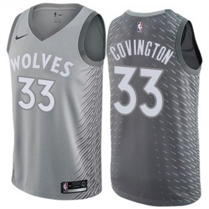 Maillot De Robert Covington Minnesota Timberwolves Enfant #33 Gris Nike City Edition