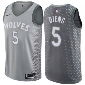 Nike Maillot Gorgui Dieng Minnesota Timberwolves City Edition Enfant Gris No.5
