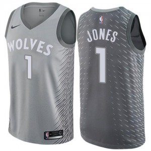 Maillot Jones Minnesota Timberwolves City Edition No.1 Nike Enfant Gris