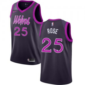 Nike NBA Maillot De Basket Rose Minnesota Timberwolves Enfant #25 Violet City Edition