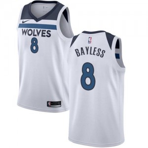 Nike Maillots Jerryd Bayless Timberwolves Association Edition Blanc Homme No.8