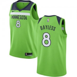 Nike Maillot Bayless Timberwolves vert #8 Homme Statement Edition