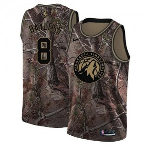 Nike Maillots De Basket Jerryd Bayless Minnesota Timberwolves No.8 Enfant Realtree Collection Camouflage
