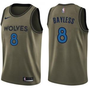 Maillot De Basket Bayless Timberwolves No.8 Enfant Salute to Service Nike vert