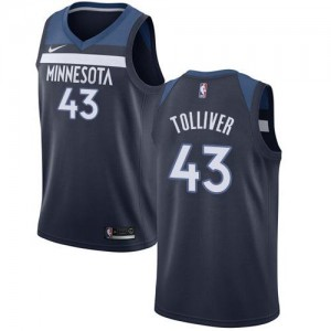 Nike Maillot De Basket Tolliver Minnesota Timberwolves Homme bleu marine Icon Edition No.43