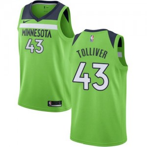 Maillot Basket Anthony Tolliver Minnesota Timberwolves No.43 Statement Edition Nike Homme vert