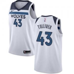 Maillot De Basket Tolliver Minnesota Timberwolves Nike Association Edition Enfant #43 Blanc