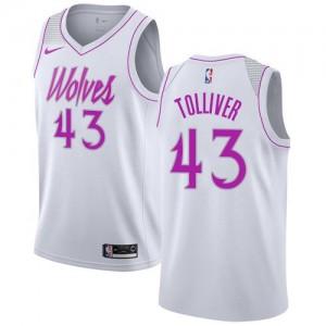 Nike Maillots De Basket Tolliver Minnesota Timberwolves Earned Edition #43 Blanc Enfant