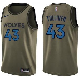 Nike NBA Maillot De Basket Anthony Tolliver Minnesota Timberwolves Homme No.43 Salute to Service vert