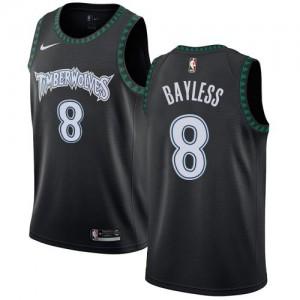 Maillots Basket Jerryd Bayless Timberwolves #8 Homme Nike Noir Hardwood Classics
