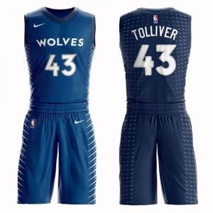 Nike Maillots De Basket Anthony Tolliver Timberwolves No.43 Bleu Suit Enfant
