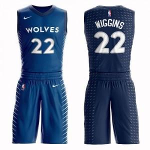 Maillot Basket Wiggins Minnesota Timberwolves Nike Bleu Homme No.22 Suit