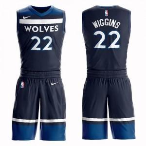 Nike NBA Maillot De Basket Andrew Wiggins Timberwolves Enfant #22 Suit Icon Edition bleu marine