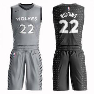 Maillot De Andrew Wiggins Minnesota Timberwolves Nike Homme No.22 Gris Suit City Edition
