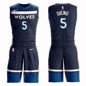 Maillot Basket Gorgui Dieng Timberwolves Nike Suit Icon Edition Enfant #5 bleu marine
