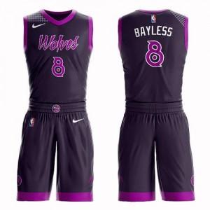 Maillot Basket Bayless Timberwolves Suit City Edition Nike Enfant Violet No.8