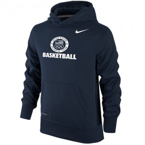 Nike Sweat à capuche Basket Team USA Homme bleu marine Basketball Sport KO Performance Pullover