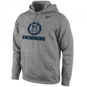 Nike NBA Hoodie Team USA Gris foncé Swimming Sport KO Performance Pullover Homme