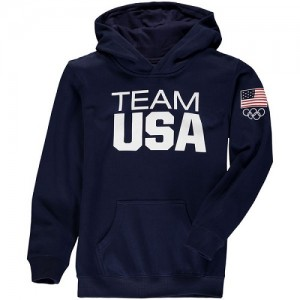 Hoodie De Basket Team USA Homme bleu marine Coast To Coast