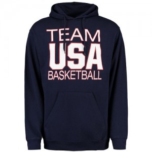 Sweat à capuche De Team USA bleu marine Basketball National Governing Body Pullover Homme