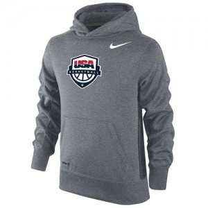 Nike NBA Sweat à capuche Basket Team USA Gris Basketball KO Performance Homme