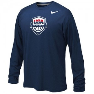 Nike NBA T-Shirt De Team USA bleu marine USA Basketball Legend Long Sleeve Performance Homme