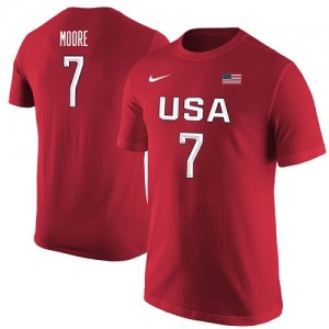 Nike T-Shirt Team USA Maya Moore USA Basketball Name & Number Rouge Femme