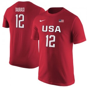 Nike NBA Tee-Shirt De Basket Team USA Diana Taurasi USA Basketball Name & Number Rouge Femme
