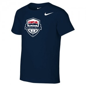 Nike NBA T-Shirt Team USA bleu marine Homme Preschool Core Cotton