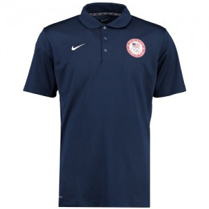 Nike NBA T-Shirt Team USA Homme bleu marine Varsity Dri-FIT Polo