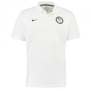 T-Shirt Team USA Blanc Homme Nike Varsity Dri-FIT Polo
