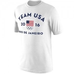 T-Shirt Team USA Homme Blanc Rio