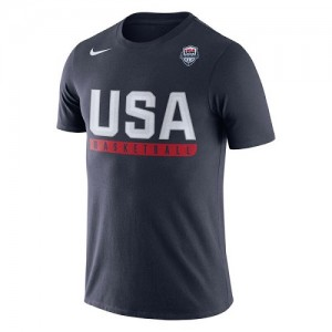 T-Shirt Basket Team USA Homme USA Basketball Practice Dri-FIT bleu marine Nike