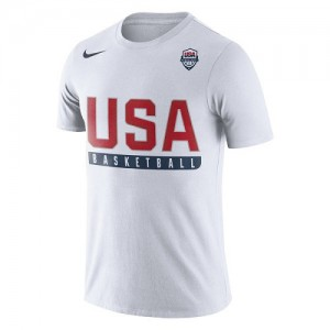 Nike Tee-Shirt Basket Team USA Blanc USA Basketball Practice Dri-FIT Homme