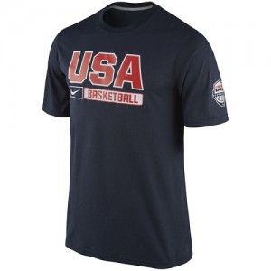 Nike NBA Tee-Shirt Basket Team USA bleu marine Homme USA Basketball Practice