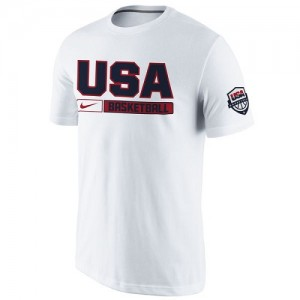 Nike NBA T-Shirt De Team USA Homme USA Basketball Practice Blanc
