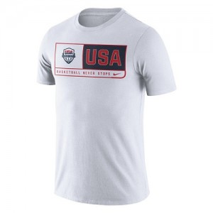 T-Shirt Basket Team USA USA Basketball Team Dri-FIT Homme Blanc Nike