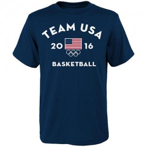 T-Shirt De Team USA Homme USA Basketball Very Official National Governing Body bleu marine