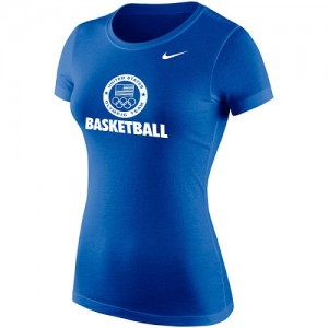 Nike Tee-Shirt De Team USA Basketball Core Bleu royal Femme