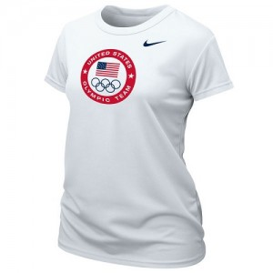 T-Shirt Team USA Blanc Nike Femme Logo Performance